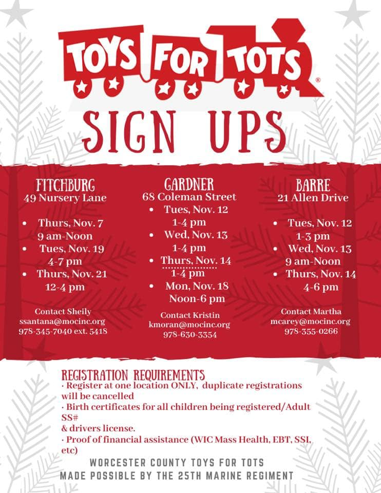 Toys For Tots - Sign Ups 2019