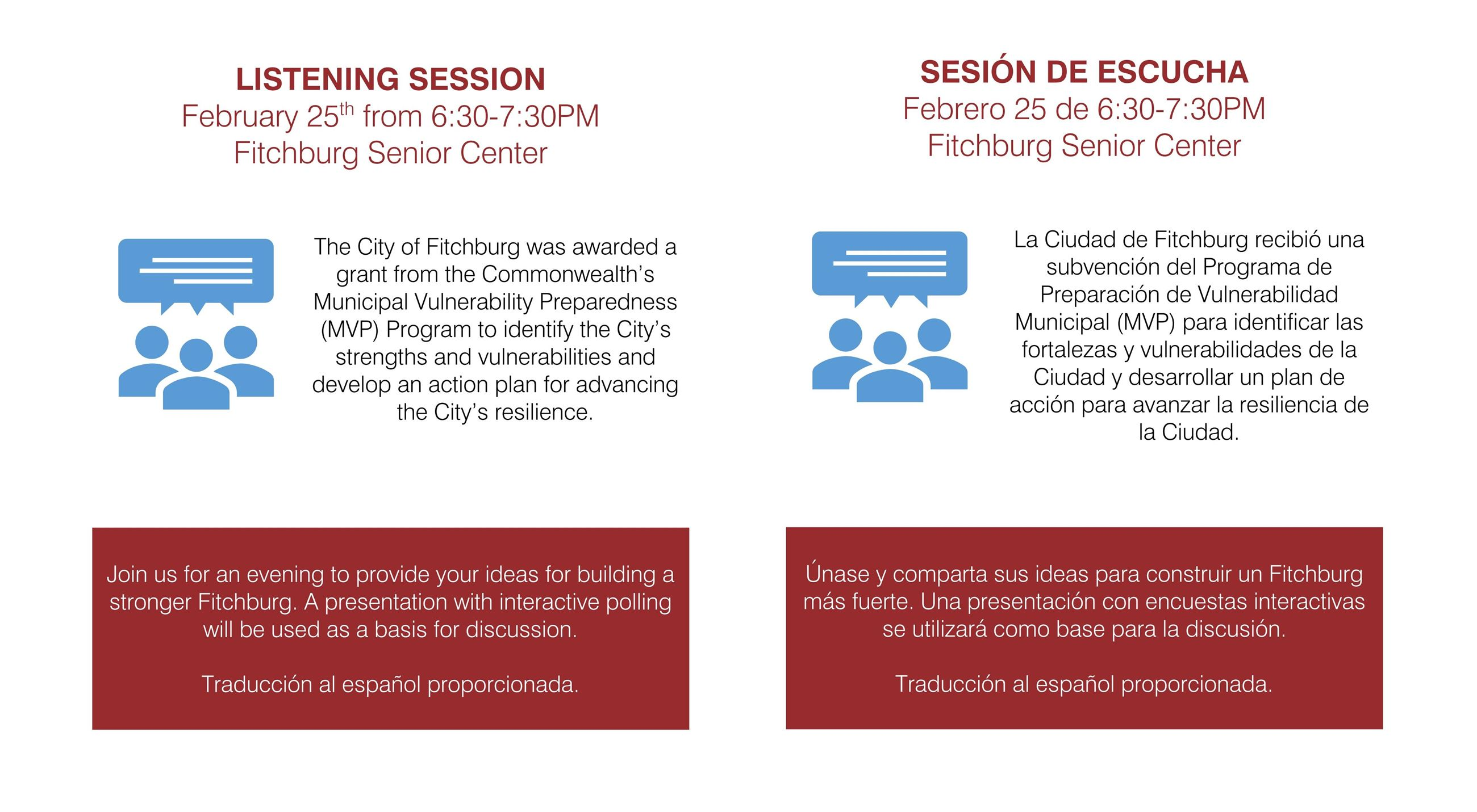 Listening Session Informational Flyer (English & Spanish)