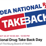 October 24 from 10am - 12pm at the Fitchburg Municipal Offices