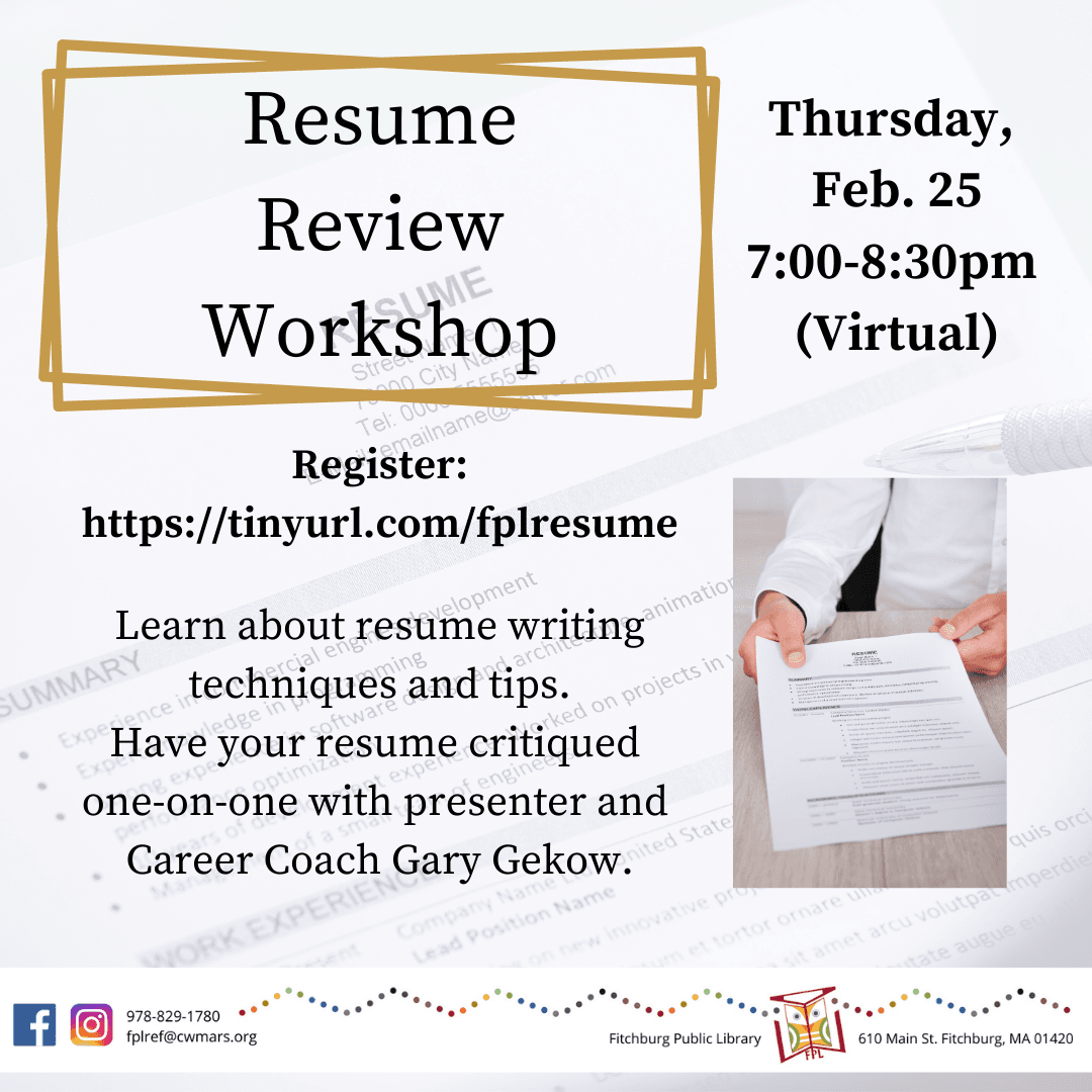 Resume Review Workshop
